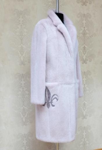 Шуба из розовой норки заказать в Галлафур