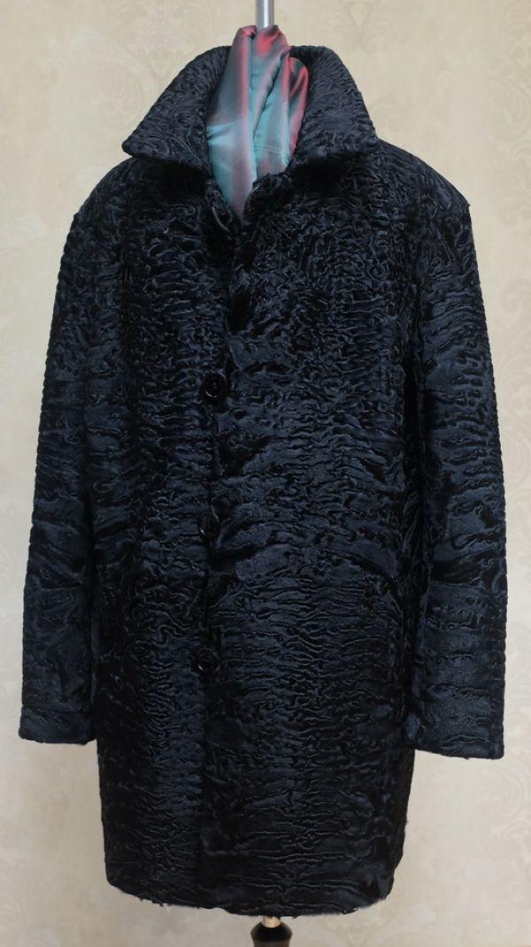 Двустороннее мужское пальто из каракуля на заказ