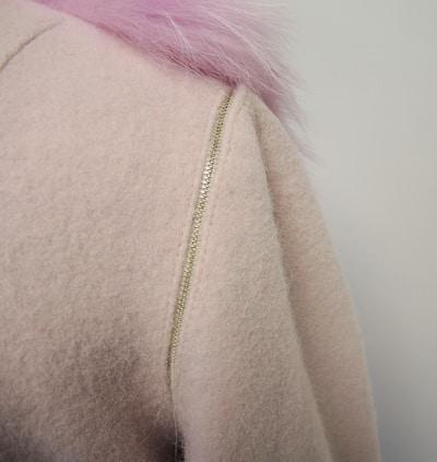 Заказать пальто из кашемира с енотом