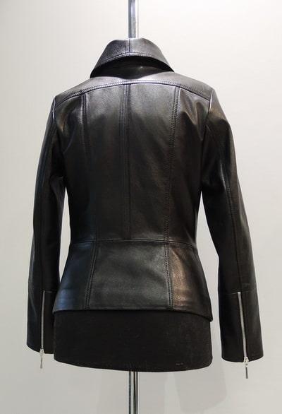Куртка из кожи с молниями Минск