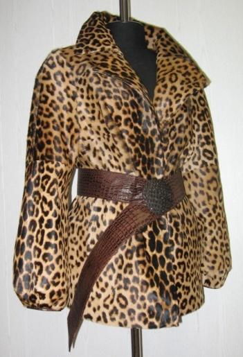 Куртка из меха теленка фото