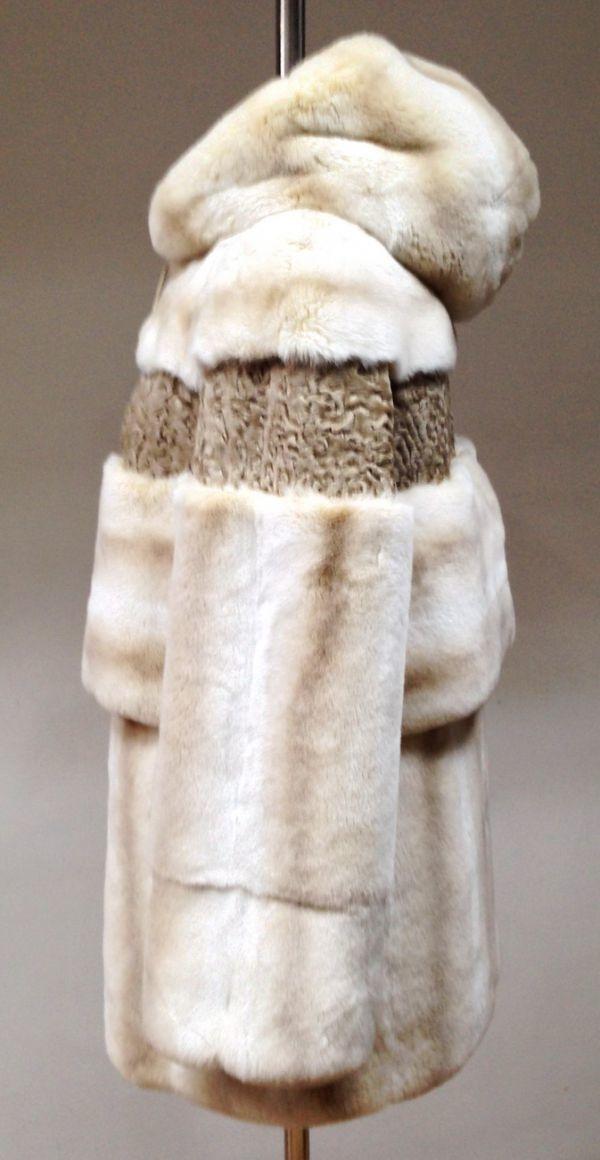 Заказать шубу из меха кролика и каракульчи