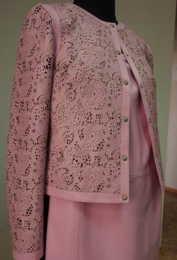 Куртка и юбка из кожи ателье Галлафур
