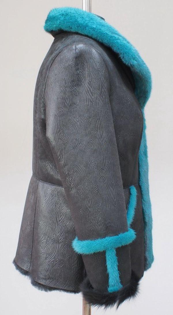 Дубленка с мехом норки в ателье Галлафур