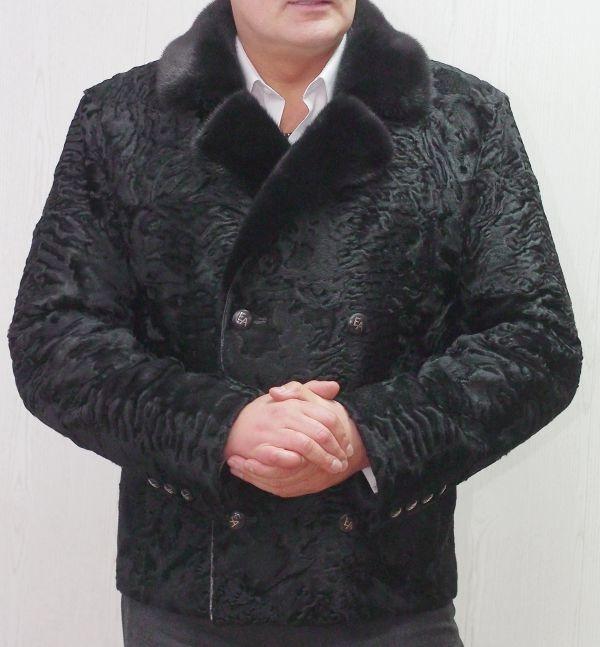 Пиджак из меха каракуля и норки в ателье галлафур