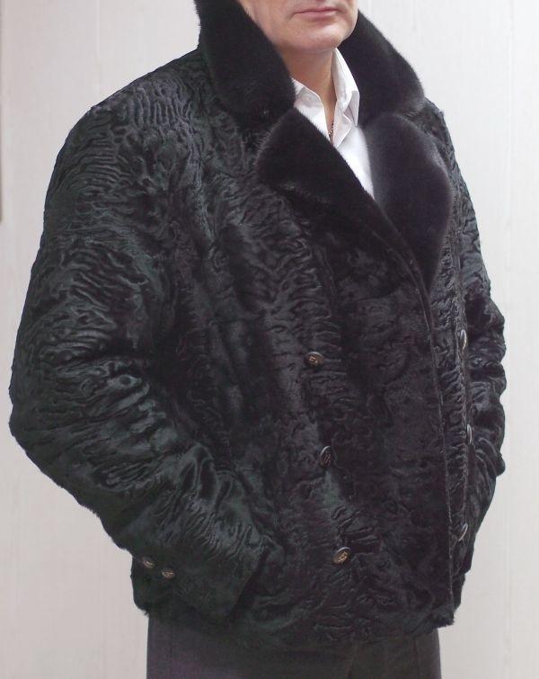 Пиджак из меха каракуля и норки заказать