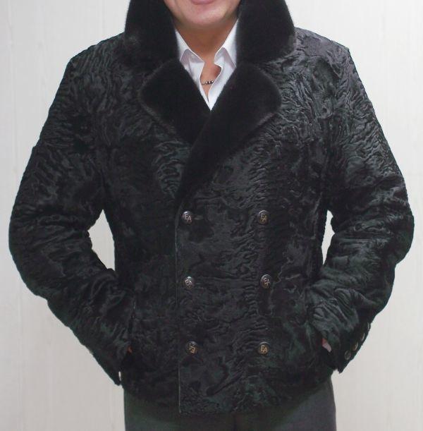 Пиджак из меха каракуля и норки фото
