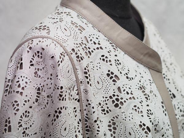 Заказать куртку из перфорированной кожи