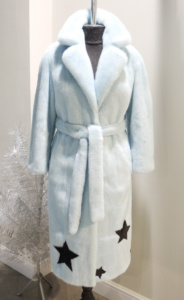 модные тенденции норковых шуб - шубка из голубой норки