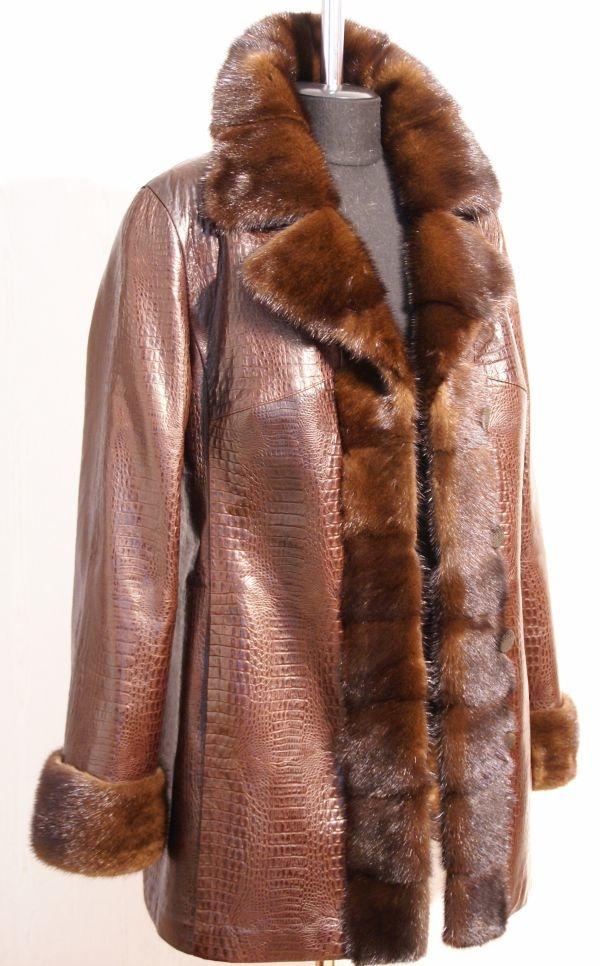 Куртка из кожи и норки заказать