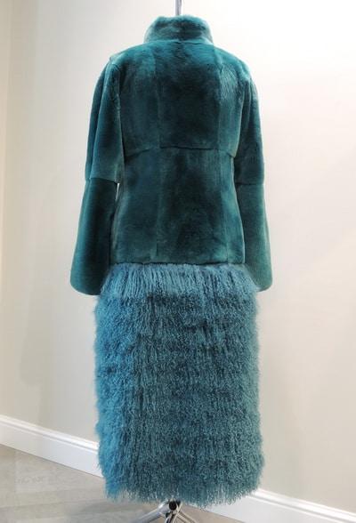 Пальто из кролика и ламы в ателье Галлафур