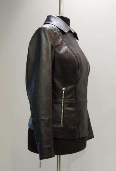 Куртка из кожи с молниями ателье ГаллаФур