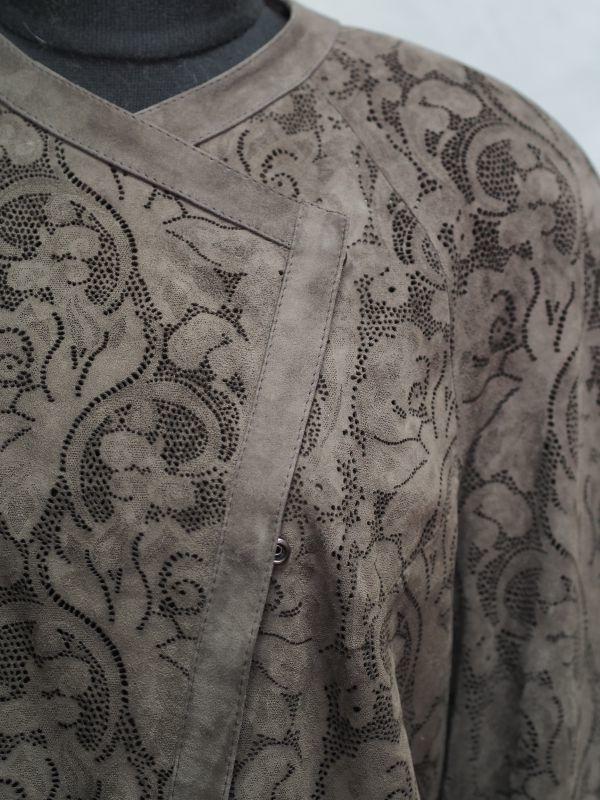 Пальто из замши фото