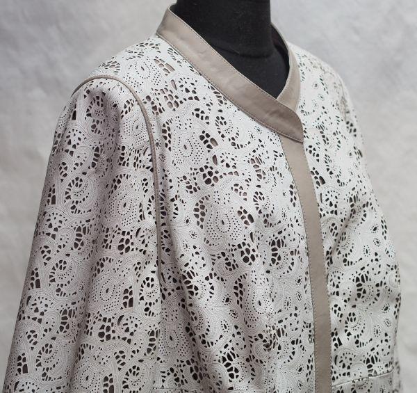 Куртка из перфорированной натуральной кожи фото